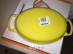 NIB NEW Le Creuset Oval Baker 1 qt 11 with Handles Cast Iron Soleil Yellow