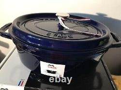 NIB STAUB Cast Iron Dark Blue Oval Cocotte Dutch Oven 4.25 Qt W. Sonoma