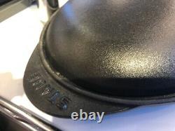 NIB Staub Cast Iron 14.5 x 8.0 OVAL Fish Plate Dish with Lid MATTE BLACK