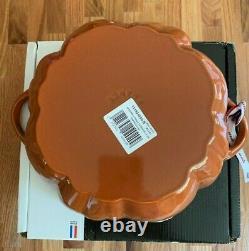 NIB Staub Cast Iron 3.5 qt Pumpkin Cocotte-Visual Imperfections (Cinnamon)