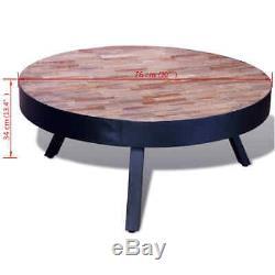 New Coffee Table Round Reclaimed Teak Wood
