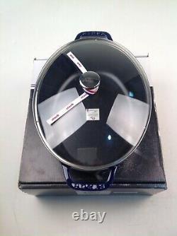 New Dark Blue Staub 4qt with Glass Lid
