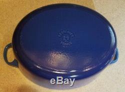 New! LE CREUSET Blue Cast Iron Oval 5 QT DUTCH OVEN CASSEROLE POT with LID #29