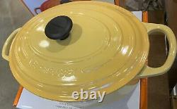 New Le Creuset Cast Iron Oval Dutch Oven 3.5 QT # 25 Honey Yellow