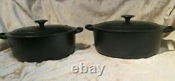 New Le Creuset Cast Iron Oval Dutch Oven Matte Noir Black #27, 3.5 Qts