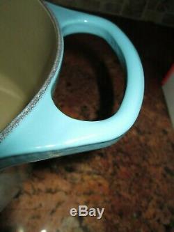 New Le Creuset Cast Iron Oval Turquoise Dutch Oven #31 6.75 Quart Original Box