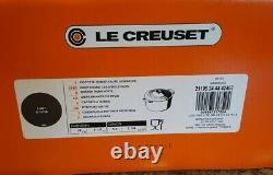 New Le Creuset Enamel Cast Iron Dutch Oven 5.25 QT Flint Oyster Gray withbox/docs