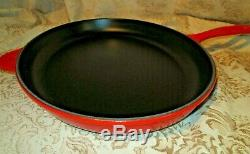 New Le Creuset Enamel Cast Iron Oval Cerise Red Skillet 40 14 Fish Crepe Pan