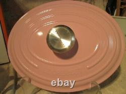 New Le Creuset Enamel Cast Iron Oval Chiffon Pink Signature Dutch Oven 27.4.5 Qt