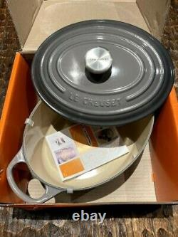 New Le Creuset Enameled Cast Iron Signature Oval Dutch Oven, 3.5 qt, Oyster