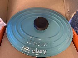 New Le Creuset Signature Enamelled Cast Iron Casserole Oven Oval 5QT Turquoise