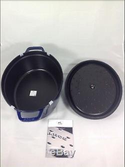 New Staub Dark Blue Cast Iron 7-quart Oval Cocotte