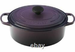 Nib Le Creuset Cassis Purple Classic Iron Cast Oval Dutch Oven 9.5 Qt Rare