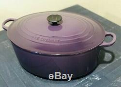 Nib Le Creuset Cassis Purple Signature Oval Dutch Iron Cast Oven 9 1/2 Qt Rare