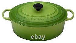 Nib Le Creuset Palm Green Classic Iron Cast Oval Dutch Oven 3.5 Qt Rare Color