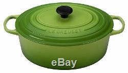 Nib Le Creuset Palm Green Signature Iron Cast Oval Dutch Oven 8 Qt Rare Color