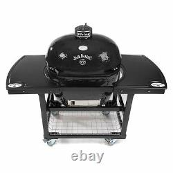 Primo Grills Jack Daniel's Edition Oval 400 XL Ceramic Grill With Cart & 2pc Top