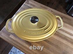 RARE le creuset Quince 5 quart oval dutch oven cast iron