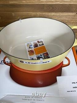 Rare Creuset Cast Iron Oval Wide 6 3/4 Quart Dutch Oven Mimosa Matte Finish