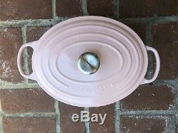 Rare Discontinued Le Creuset Chiffon Pink Oval 6.75 Qt Brand New