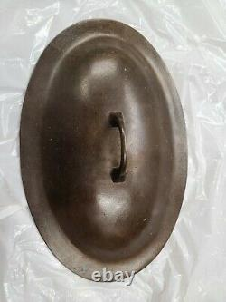 Rare Griswold #15 oval skillet with cover