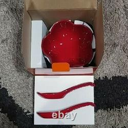 Rare! Le Creuset Flower Dish S Chinese Spoon Le Creuset Red With Box From Japan