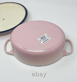 Rare SHELL PINK Le Creuset 3.5 QT Oval Dutch Oven New In Box Cast Iron