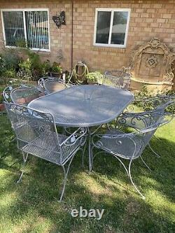 Russell Woodard Oval Patio Set With 6 Chairs Mid Century Modern Vintage