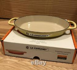 Set of 4 Soleil LE CREUSET Cast Ion Signature Au Gratin Oval Bakers NWT Yellow