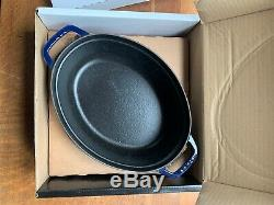 Staub 1102976 Oval Cast Iron Cocotte 5qt With BLUE FINISH