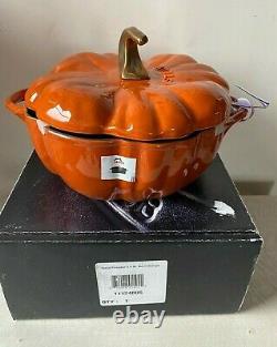 Staub 3 1/2 Quart Cast Iron Pumpkin Cocotte, New