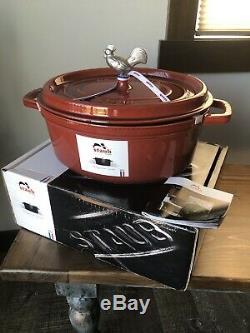 Staub 5.75 Qt. Oval Coq Au Vin Dutch Oven, Red Color-NEW