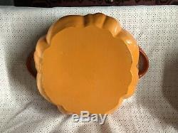 Staub Burnt Orange Pumpkin Cast Iron Dutch Oven Cocotte 3.5 Qt 3 1/2 Quart Exc