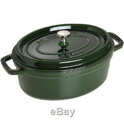 Staub Cast Iron Oval Cocotte 33 cm, Basil 1103385