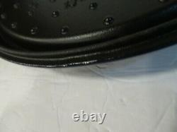 Staub Cast Iron Oval Cocotte Dark Blue, 7-Quart