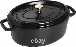 Staub Cast Iron Oval Cocotte Dutch Oven 2.5qt Black Dutch French Oven Roasting