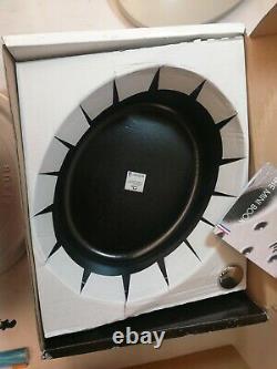 Staub Cocotte Cast Iron 5.75-qt. Steel Knob Enamel Bottom Dishwasher Safe White
