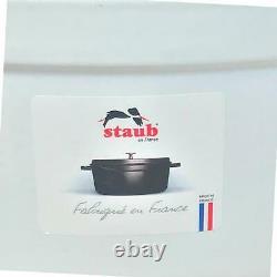 Staub Coq Au Vin Dutch Oven 5.75 Qt. White 31 NWOB Bonus Rooster Knob Free Ship
