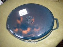 Staub Enameled Cast Iron Oval Cocotte/coq A Vin La Mer (deep Blue) 5.75 Qt Nib