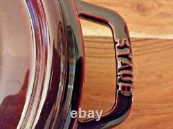 Staub Enameled Cast Iron Oval Dutch Oven 33, 7-Qt, Grenadine, France