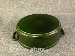 Staub La Cocotte Basil Green Oval Cast Iron 12 1/4 5.75 qt Dutch Oven Pot