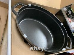 Staub Oval Cocotte 7Qt Black Matte 1103325 new in box