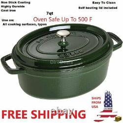 Staub Oval Cocotte 7qt French Dutch Oven Cocotte Crock Pot FREE Shipping