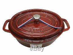 Staub Oval Dutch Oven 4.25QT Red