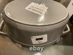 Staub Pig Cast iron Cocotte Oval 1qt Grey Graphite New In box