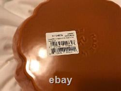 Staub Pumpkin Shaped Cocotte 3.5 Qts Burnt Orange France New Cast Iron Pot NEW