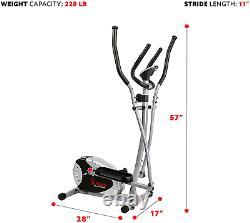 Sunny Health & Fitness SF-E905 Elliptical Machine Cross Trainer with 8 Level Res