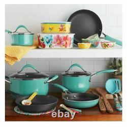 The Pioneer Woman Frontier 25-Piece Freckle Nonstick Cookware & Baking Set -Teal