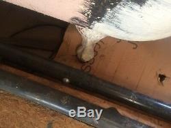 VINTAGE White Porcelain Roll Rim Cast Iron Clawfoot Bathtub 30in x 5ftno/ship