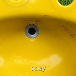 VTG Kohler Cast Iron Bell Bright Yellow Drop In Sink Vanity Bathroom 3 Hole USA